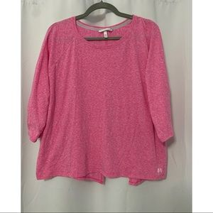 Victoria's Secret Pink Split Open Back Tee Size XL